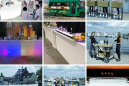 Verschillende foto's met daarop de bars van de Dreambar